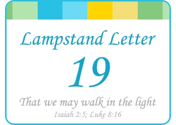 LAMPSTAND LETTERS 19