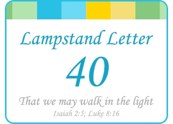 LAMPSTAND LETTER 40