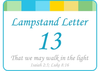 LAMPSTAND LETTERS 13