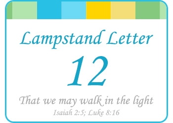 LAMPSTAND LETTERS 12