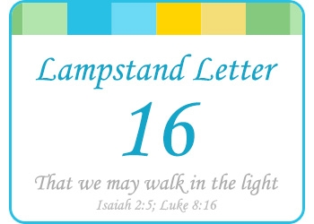 LAMPSTAND LETTERS 16
